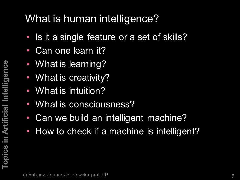 What is human intelligence
