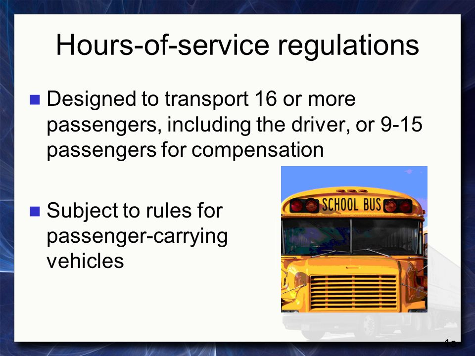 Hours-of-service regulations