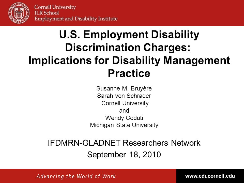 U.S. Employment Disability Discrimination Charges: