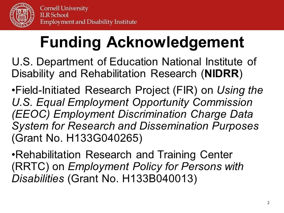 Funding Acknowledgement