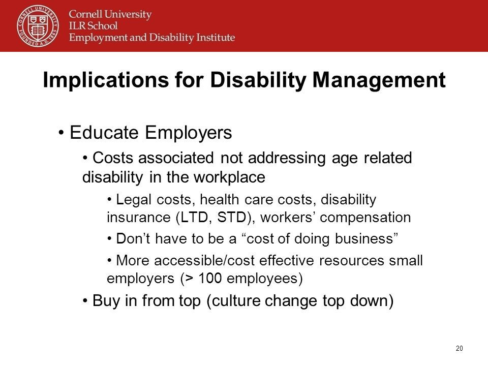 Implications for Disability Management