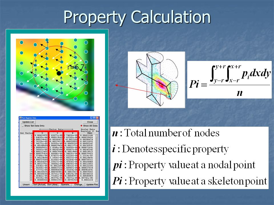 Property Calculation r=6.7