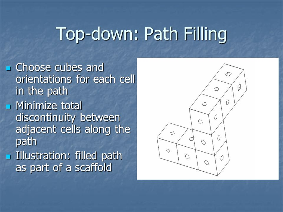 Top-down: Path Filling