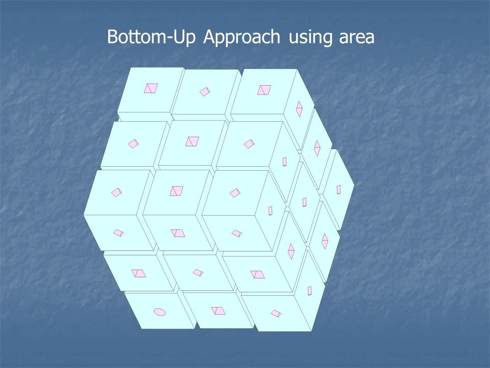 Bottom-Up Approach using area