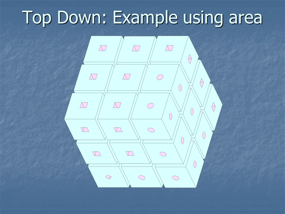 Top Down: Example using area