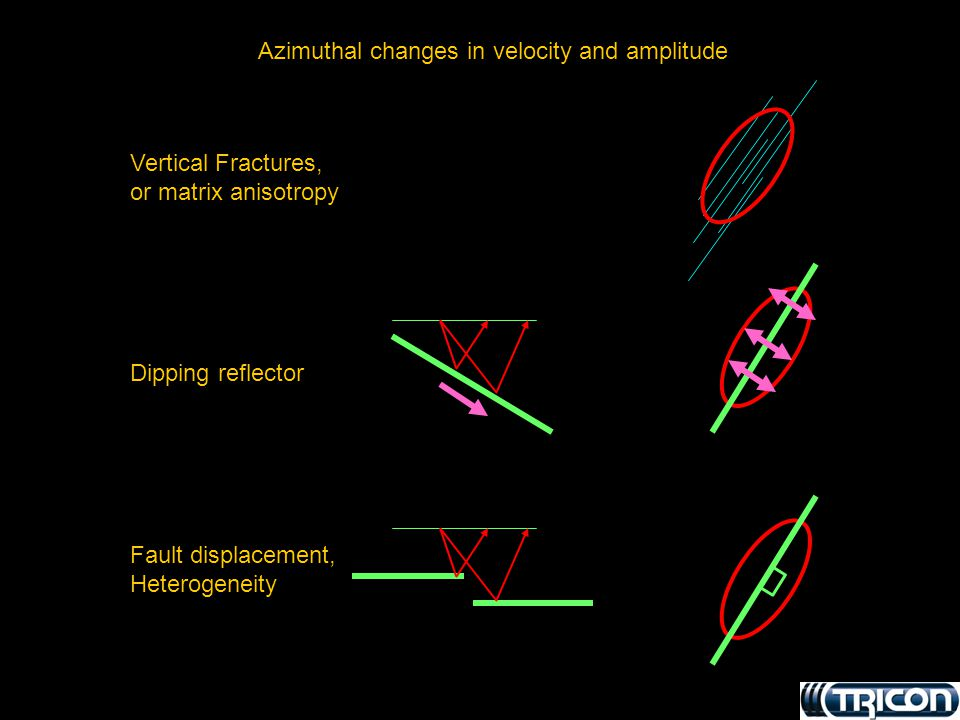 Azimuthal changes in velocity and amplitude