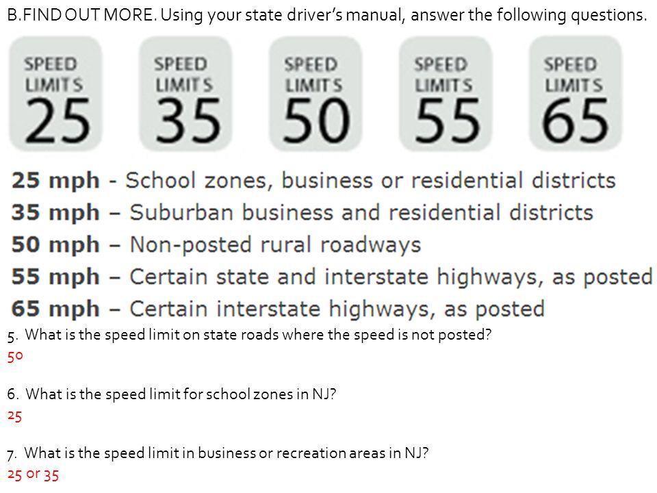 New jersey dmv drivers license handbook & nj signs flashcards.