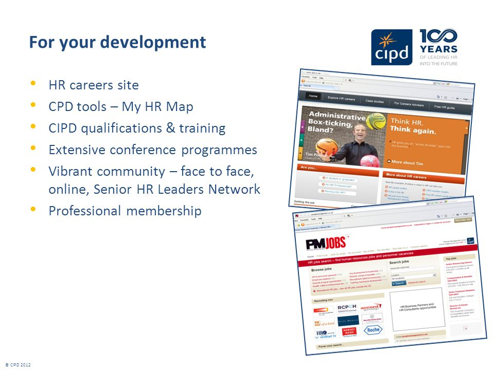 For your development HR careers site CPD tools – My HR Map