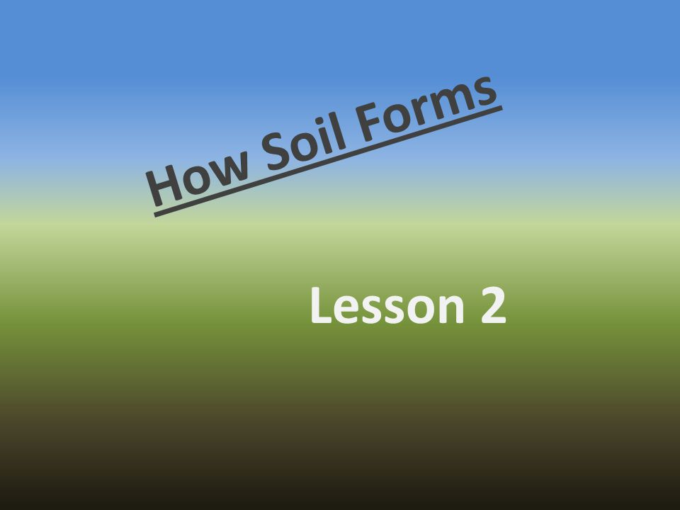 How Soil Forms Lesson 2