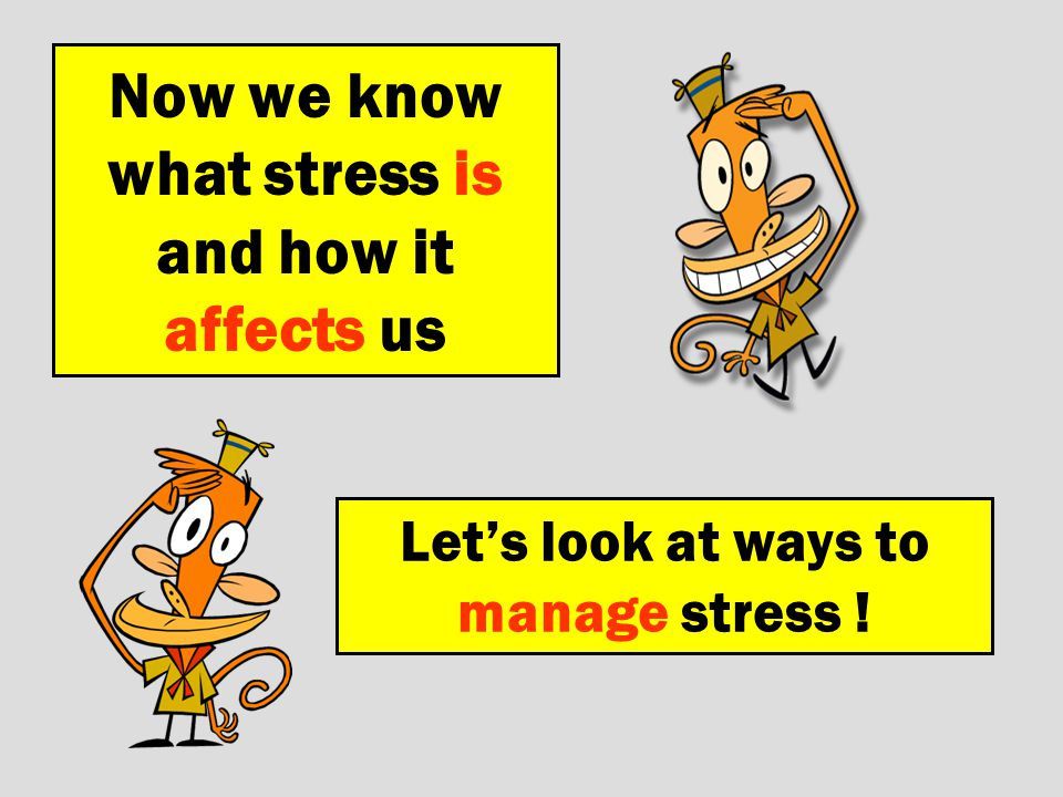 Now we know what stress is and how it affects us