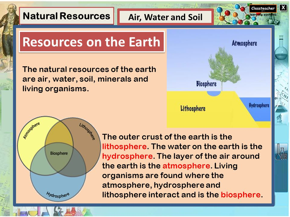 Resources on the Earth Compounds Non-metals Natural Resources
