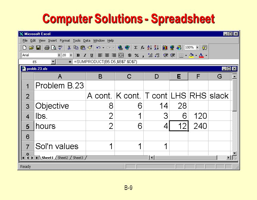 Computer Solutions - Spreadsheet