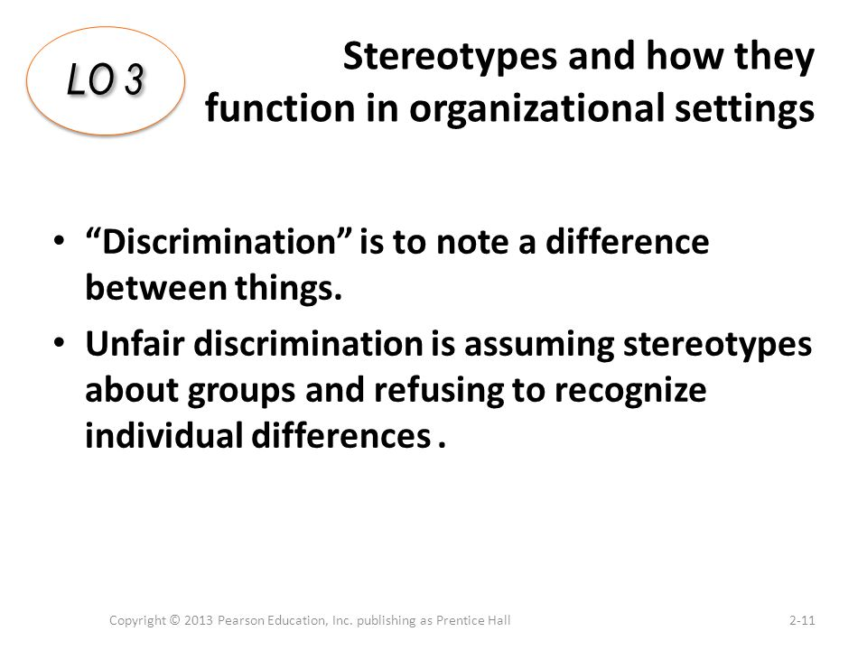 Stereotypes and how they function in organizational settings