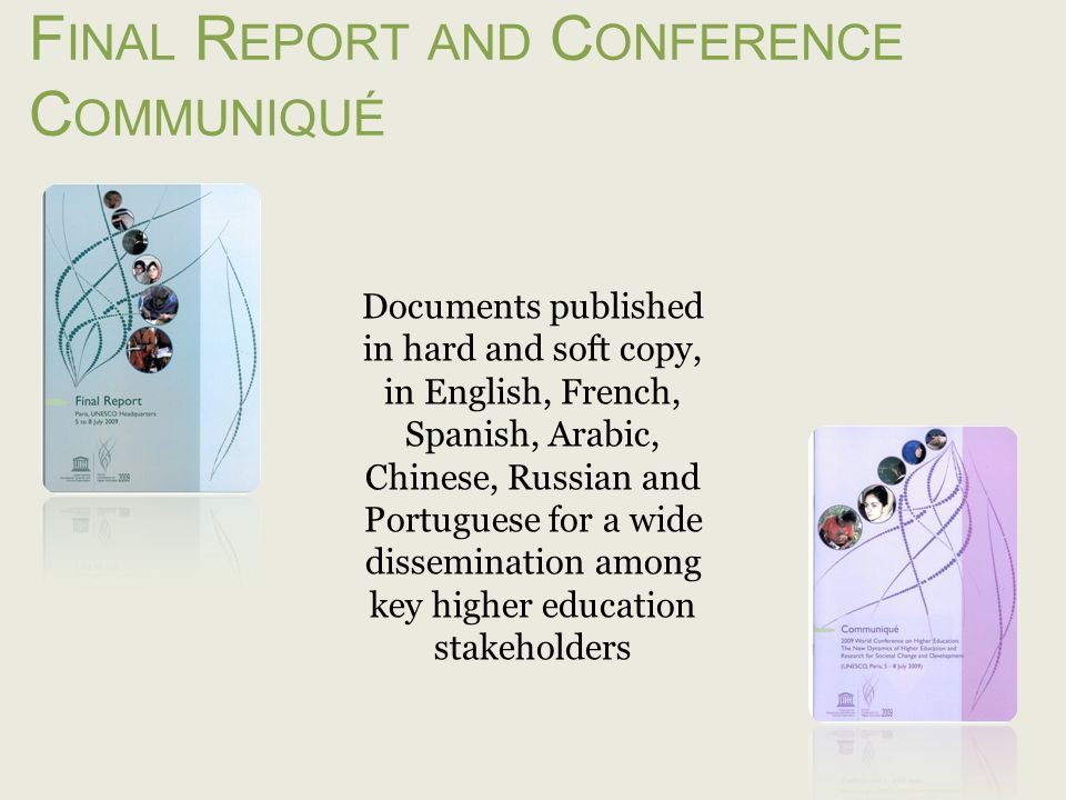 Final Report and Conference Communiqué