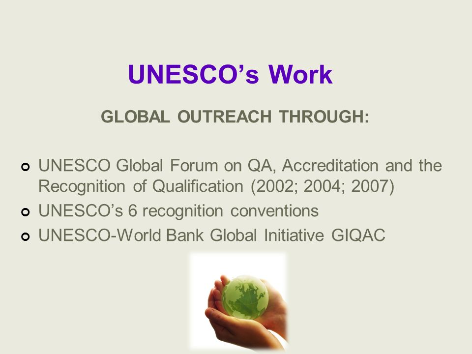 GLOBAL OUTREACH THROUGH: