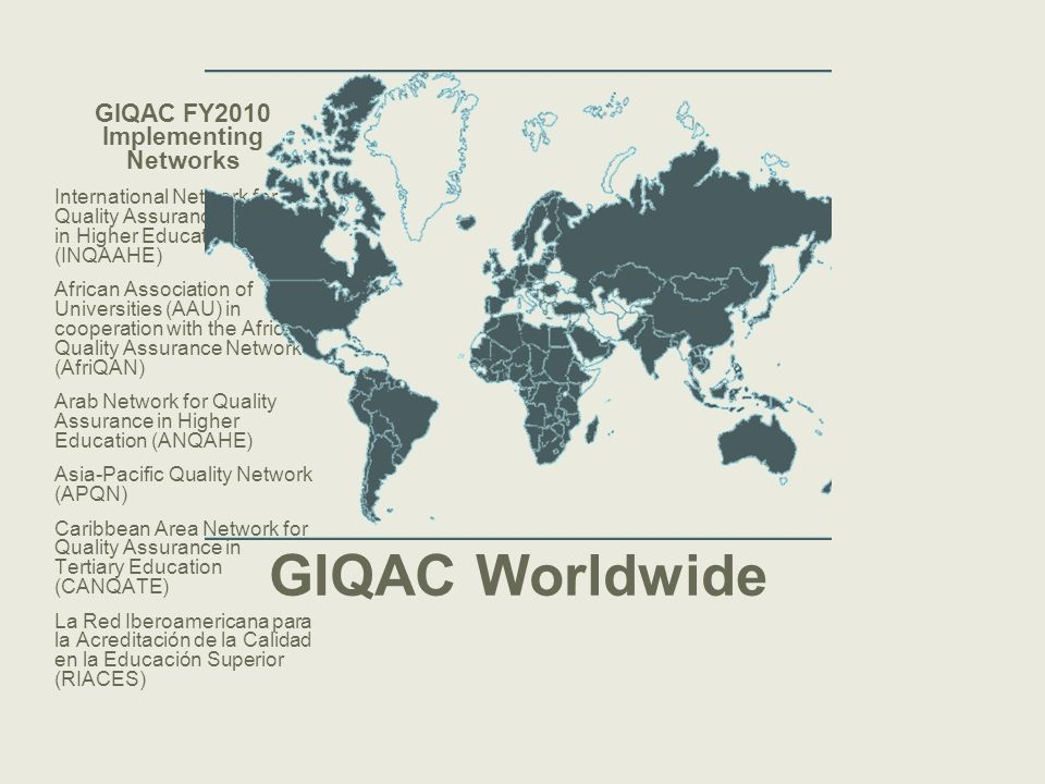 GIQAC FY2010 Implementing Networks