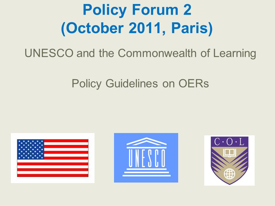 Policy Forum 2 (October 2011, Paris)