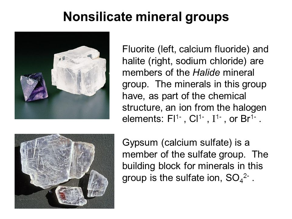 Nonsilicate mineral groups