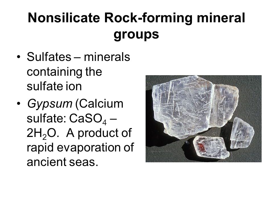 Nonsilicate Rock-forming mineral groups