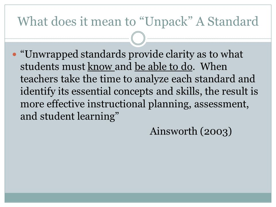 Unpacking The Common Core State Standards Ppt Video Online
