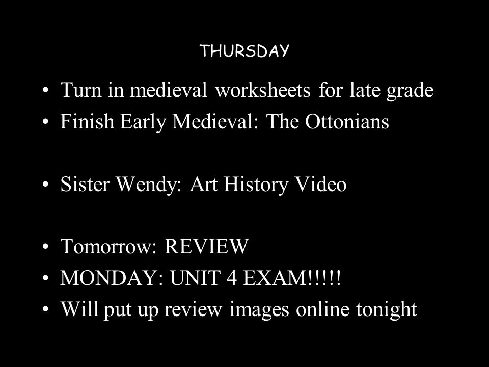 Tuesday Islamic Quiz Early Medieval Tomorrow Medieval Worksheet Due