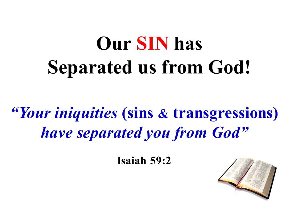 Our SIN has Separated us from God!