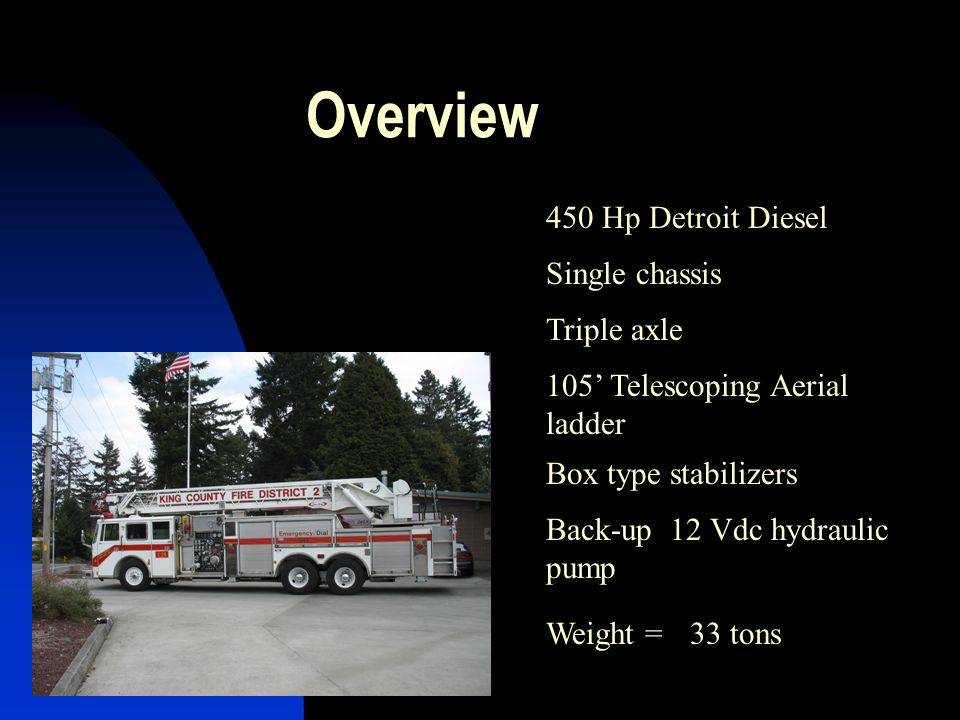 Overview 450 Hp Detroit Diesel Single chassis Triple axle