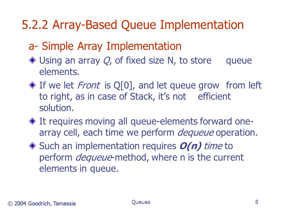 5.2.2 Array-Based Queue Implementation