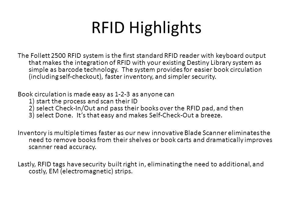 Follett 2500 RFID Training  - ppt video online download