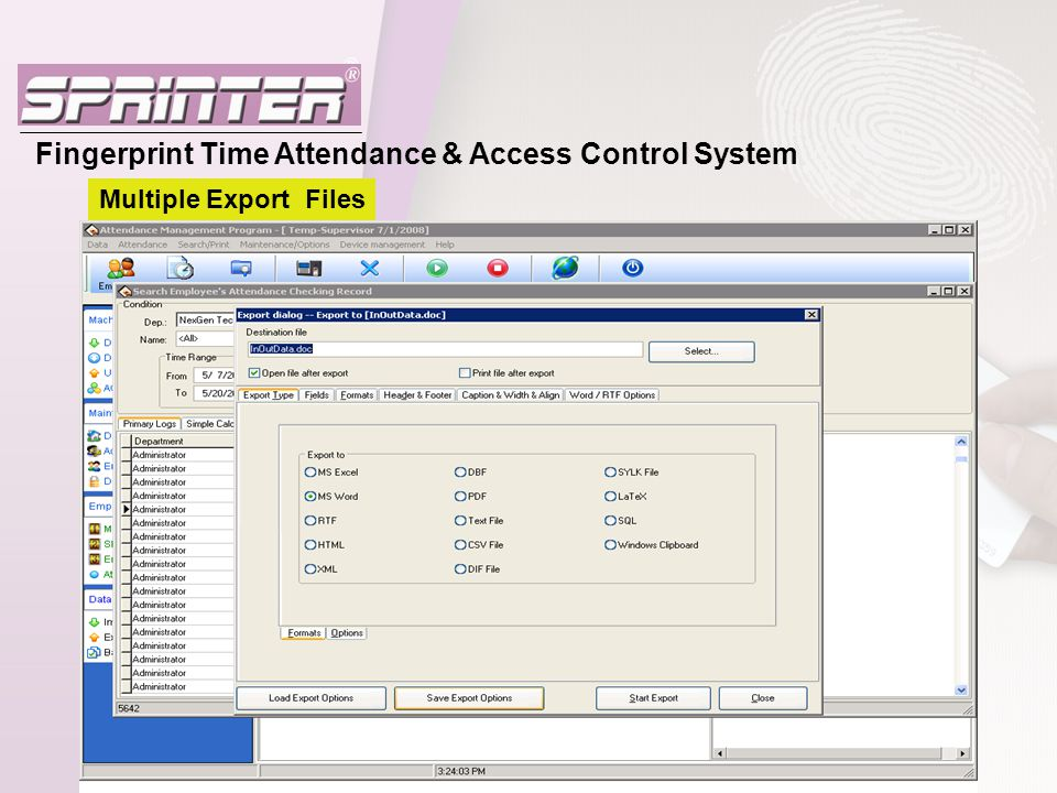 Fingerprint Time Attendance & Access Control System - ppt video