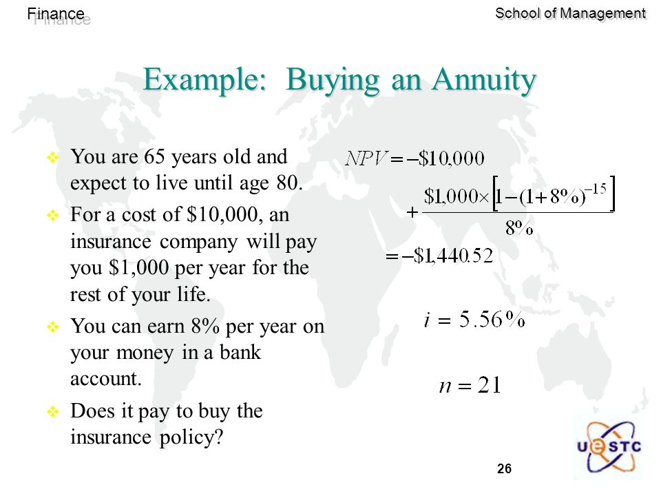 Example: Buying an Annuity