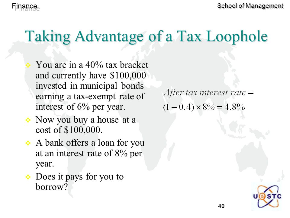 Taking Advantage of a Tax Loophole