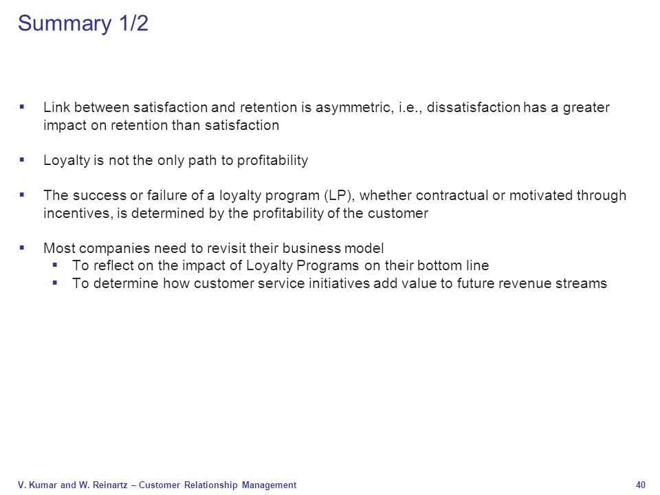 Chapter 10 loyalty programs design and effectiveness ppt video 40 summary colourmoves