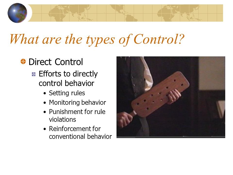 What are the types of Control