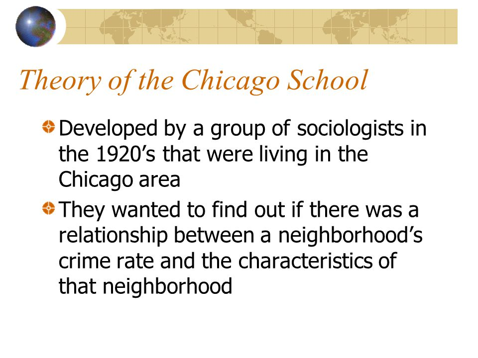 Theory of the Chicago School