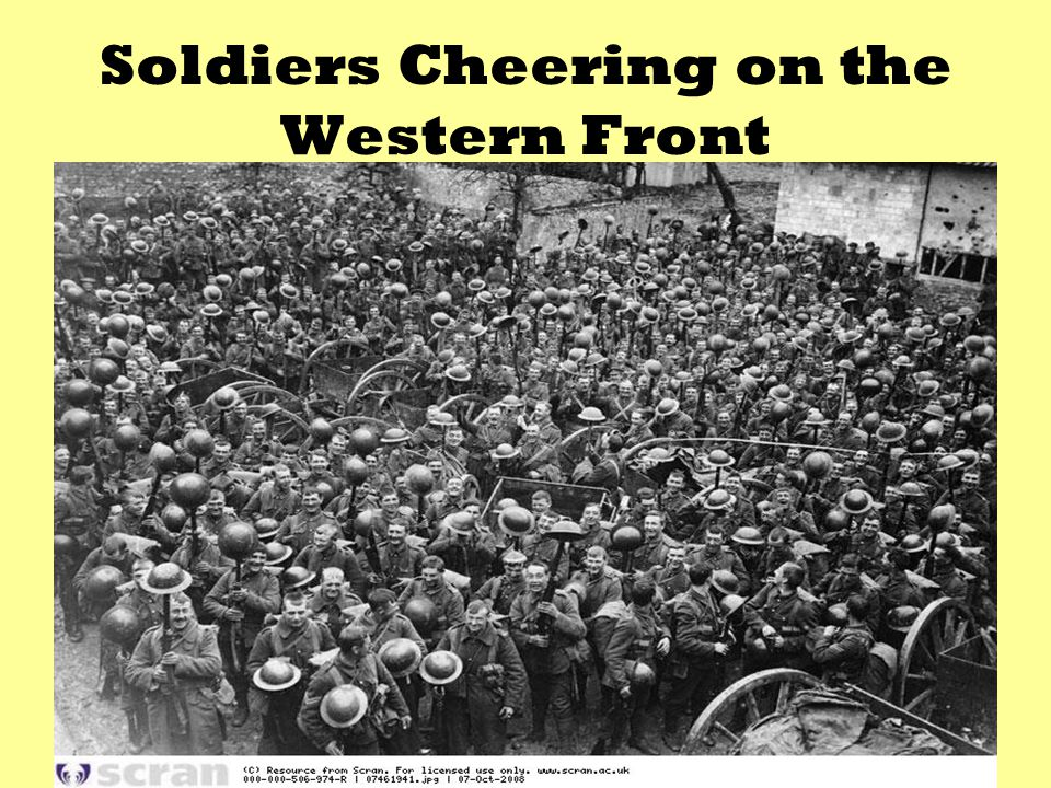 Soldiers Cheering on the Western Front