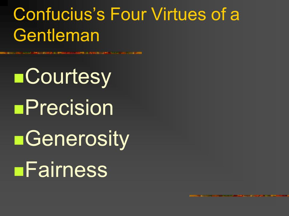 Confucius's Four Virtues of a Gentleman