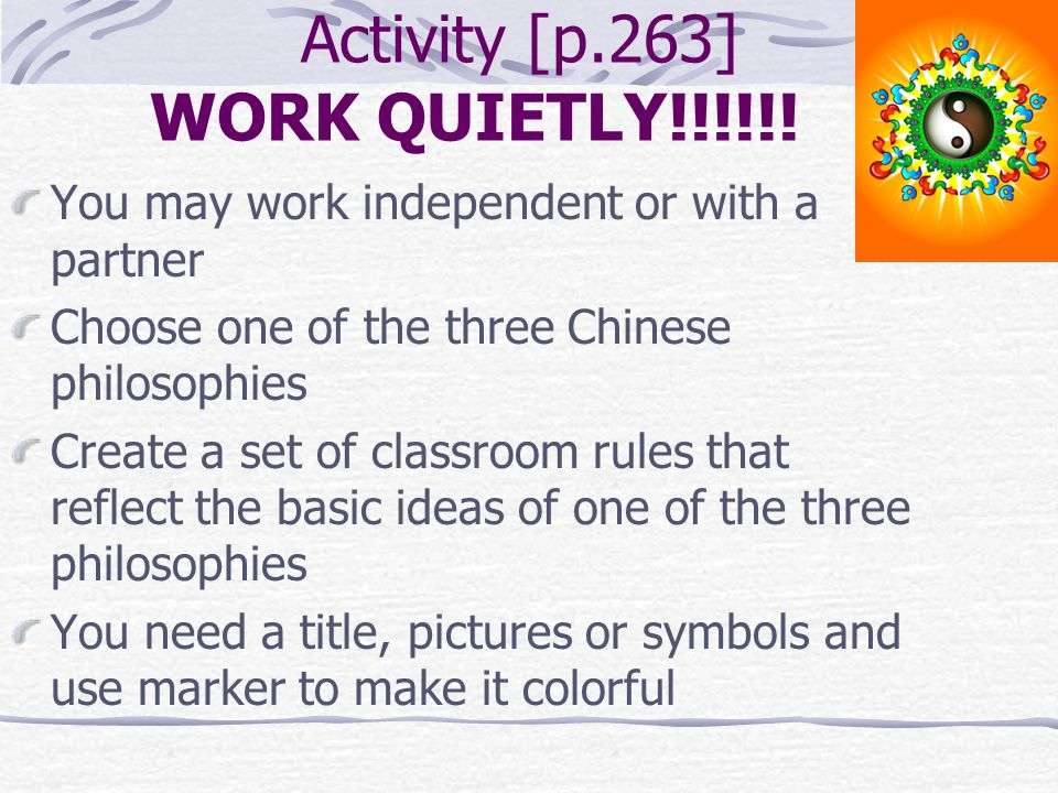 Activity [p.263] WORK QUIETLY!!!!!!