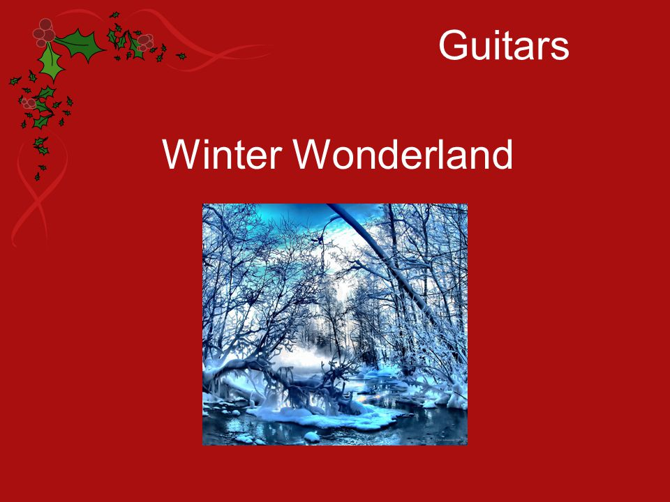 Guitars Winter Wonderland