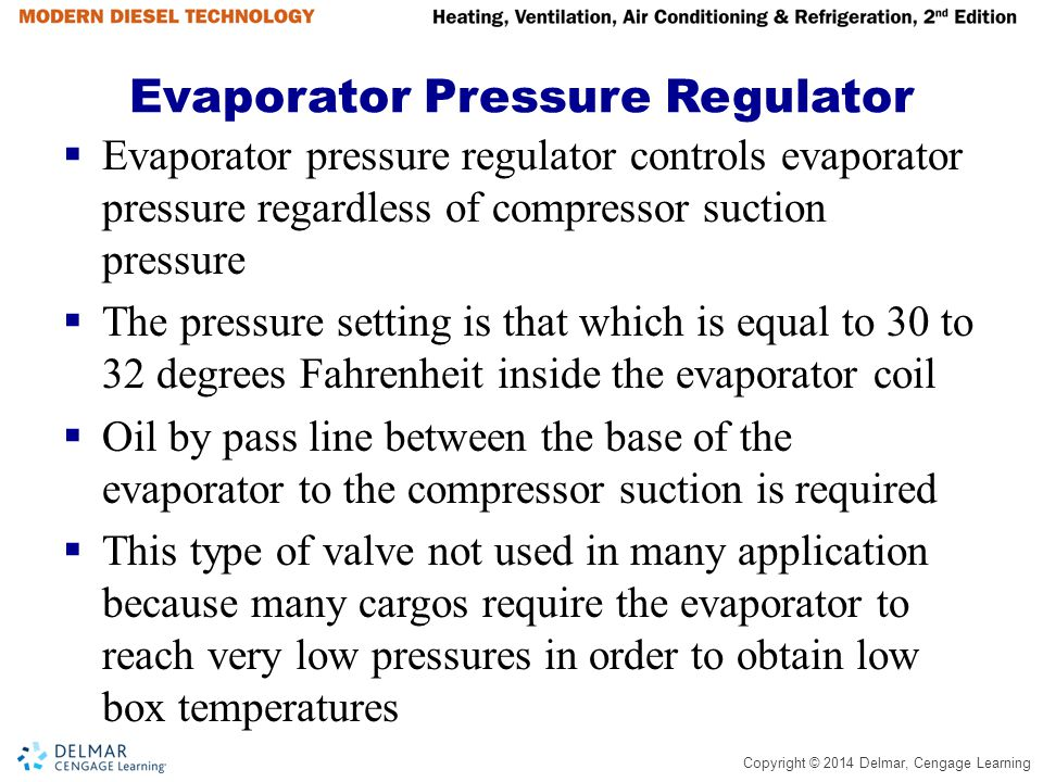 Evaporator Pressure Regulator