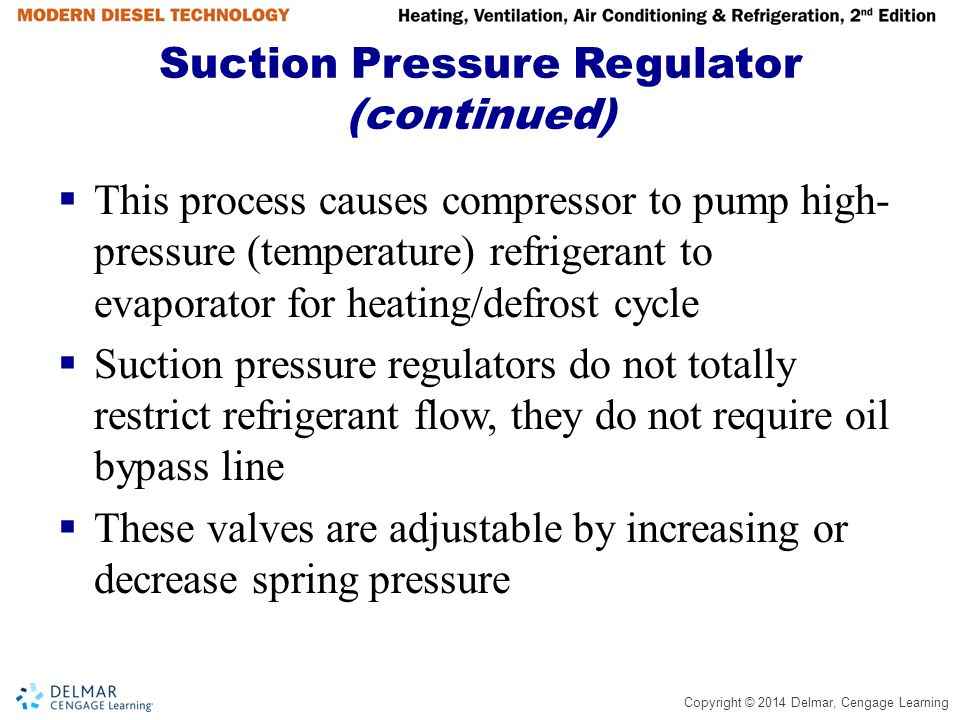 Suction Pressure Regulator (continued)