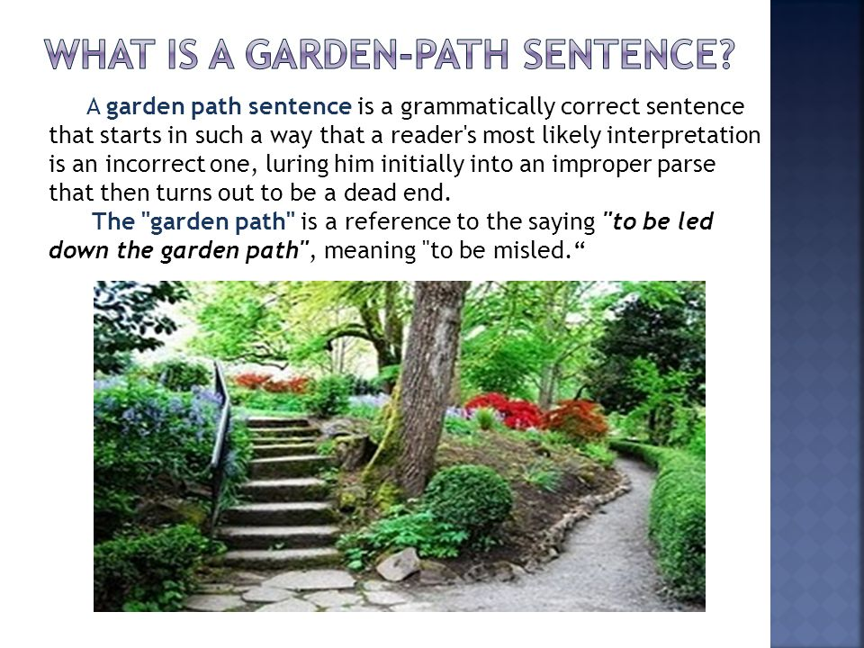 garden path model of sentence processing