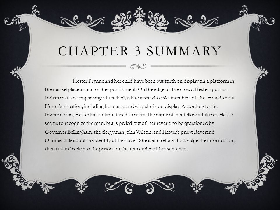 scarlet letter chapter 3 the scarlet letter chapters 3 amp 4 ppt 24736 | Chapter 3 Summary