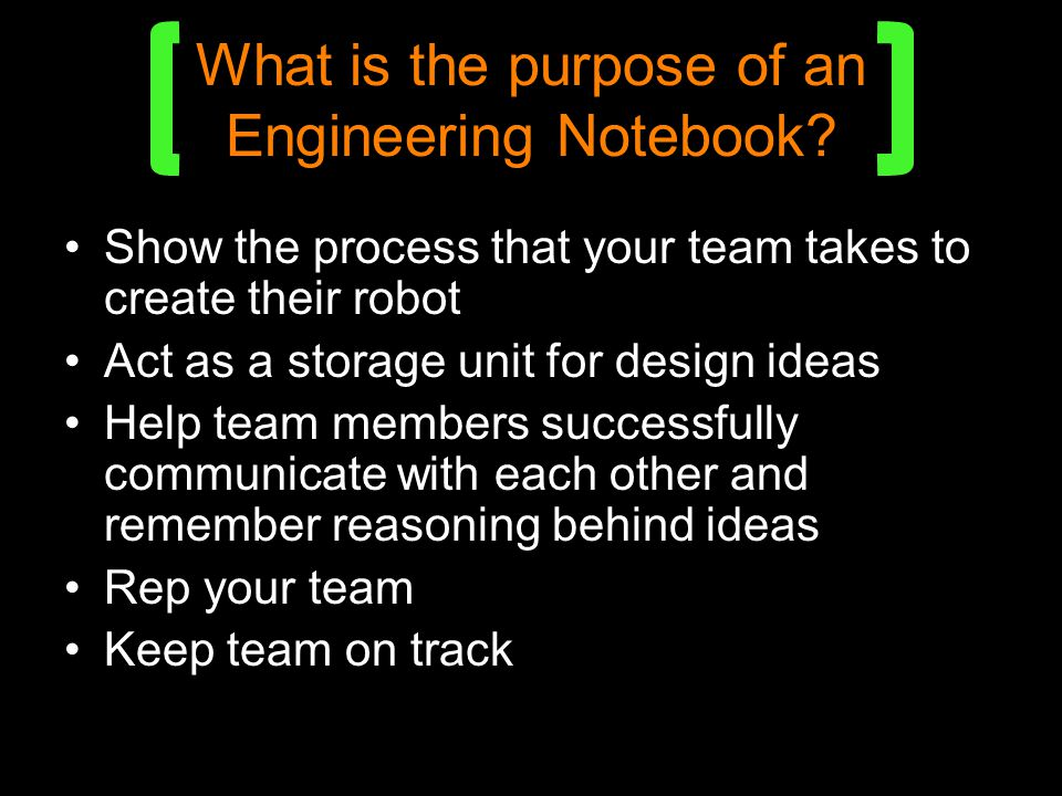 What is the purpose of an Engineering Notebook