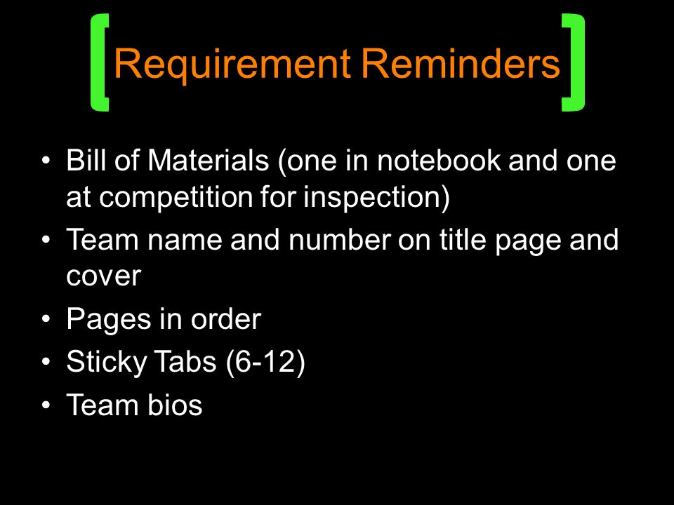 Requirement Reminders