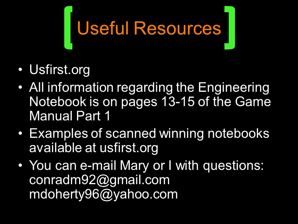 Useful Resources Usfirst.org