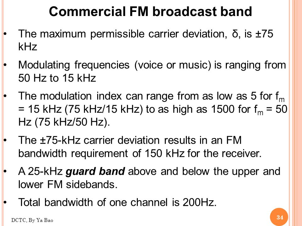 Commercial FM broadcast band
