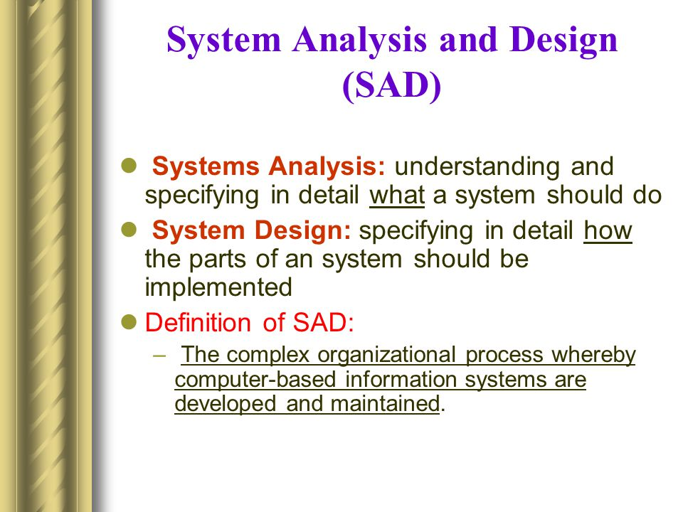 Mb It 02 System Analysis And Design Sad And Software Engg Ppt Video Online Download