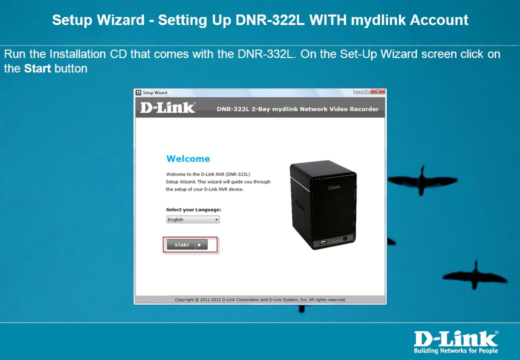 Setup Wizard - Setting Up DNR-322L WITH mydlink Account