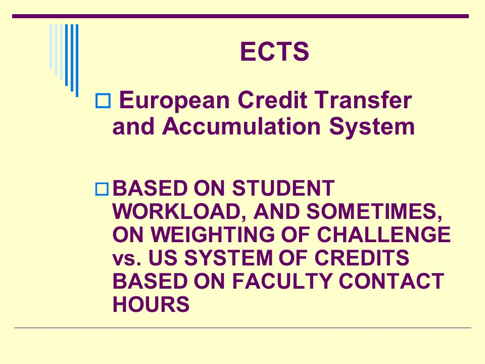ECTS European Credit Transfer and Accumulation System